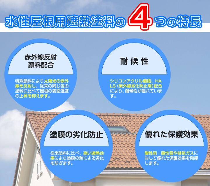 水性屋根用遮熱塗料とは