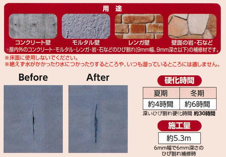 カベ用コンクリートひび割れ補修材とは