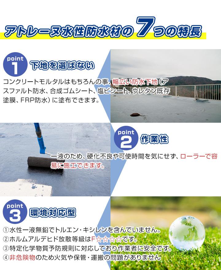 水性防水塗料アトレーヌ2