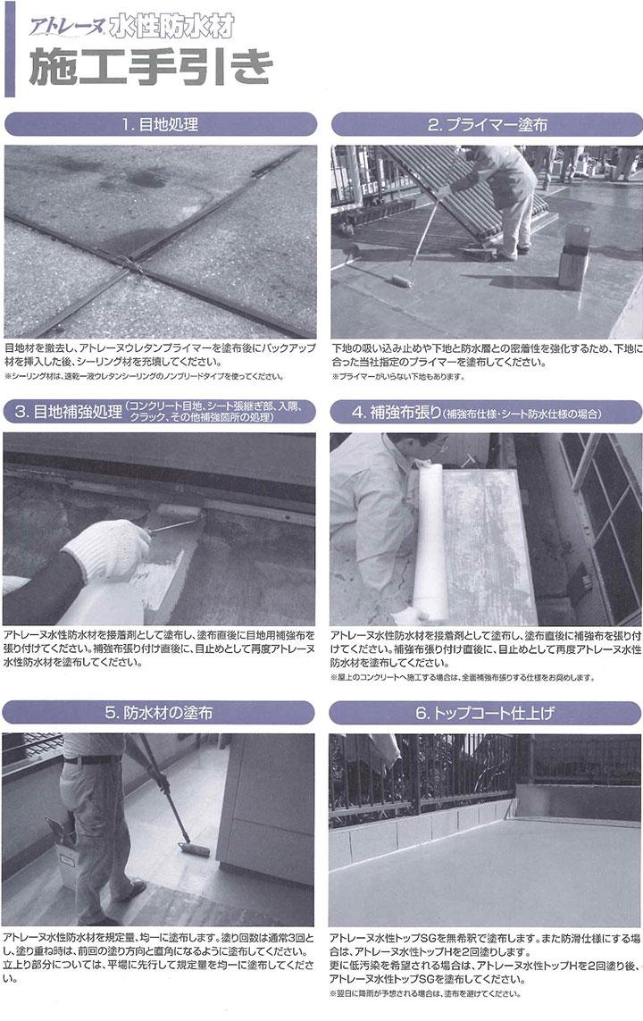 水性防水塗料アトレーヌ7