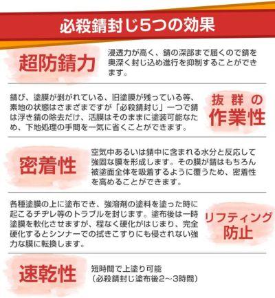 必殺錆封じ 0.9L (防錆剤・防錆プライマー/染めQテクノロジィ)