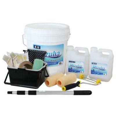 EF水性ウレタン防水材ミズハ 22kg(10m2用)+塗装用具セット(1液水性ウレタン防水塗料/屋上/ベランダ/DIY)