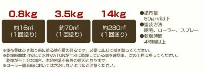水性バトン 0.8kg (木部着色剤/木部用塗料/VATON/大谷塗料)