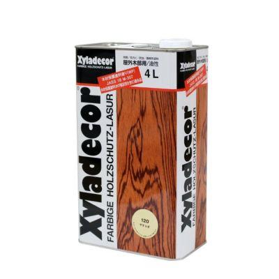 キシラデコール やすらぎ クリヤー 4L (油性/木材保護塗料/屋外木部/ウッドデッキ/ログハウス/大阪ガスケミカル)