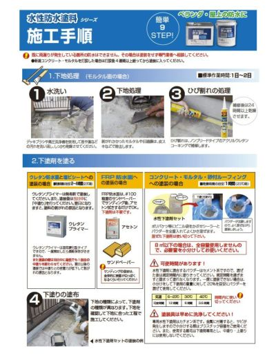 水性防水塗料 専用ウレタンプライマー 2kg(アトムハウスペイント/下塗り材/油性)