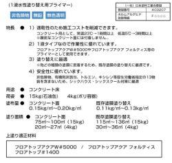 フロアトップアクア水性速乾プライマー 4kg(アトミクス/下塗り)