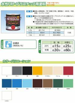 水性FRP・プラスチック用塗料 0.7L (ペンキ/塗料/サンデーペイント)