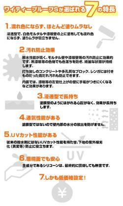 ワイティープルーフS 4L(紫外線カット型浸透性撥水剤/防水剤/エービーシ商会)