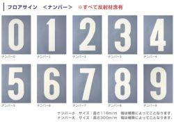 フロアサイン,ナンバー,小,アトムハウスペイント,路面標示材,数字