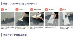 フロアサイン,足型とまれ,アトムハウスペイント,路面標示材